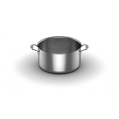 14-quart Stock Pot with Lid in 5-ply Stainless Steel