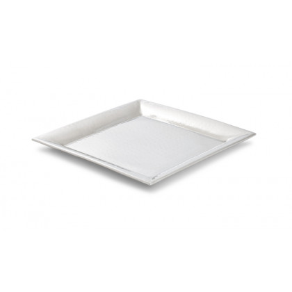 "(2 Pack) 11.25"" and 16"" Stainless Steel, Insulated, Hammered Trays"