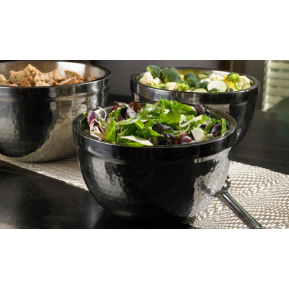 STAINLESS STEEL DOUBLE WALL SERVING BOWL SET (3-PIECE)