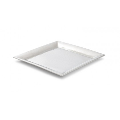 "11.25"" Stainless Steel, Insulated, Hammered Trays"