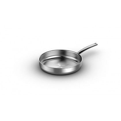 4.5-quart Flat Sauté Pan With Lid in 5-Ply Stainless Steel