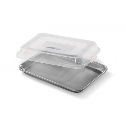"Small Aluminum Baking Sheet 13 x 9.5"" and Cover"