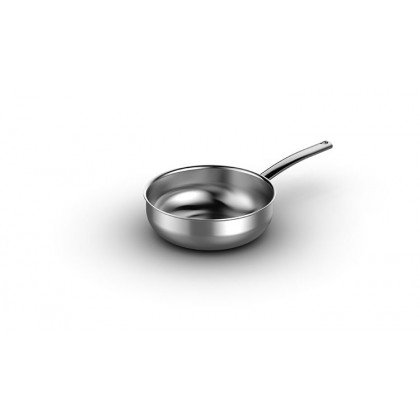 5.5-quart Curved Sauté Pan in 5-ply brushed stainless steel