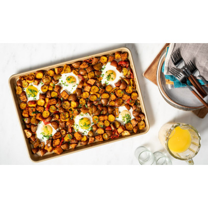 NUCU Gold-Coated Sheet Pan Set